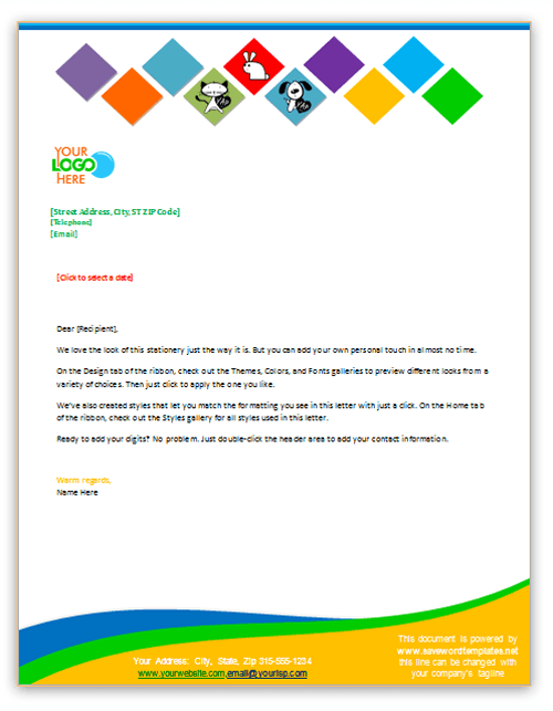 Small Business Letterhead Template FmyFrY   Sy