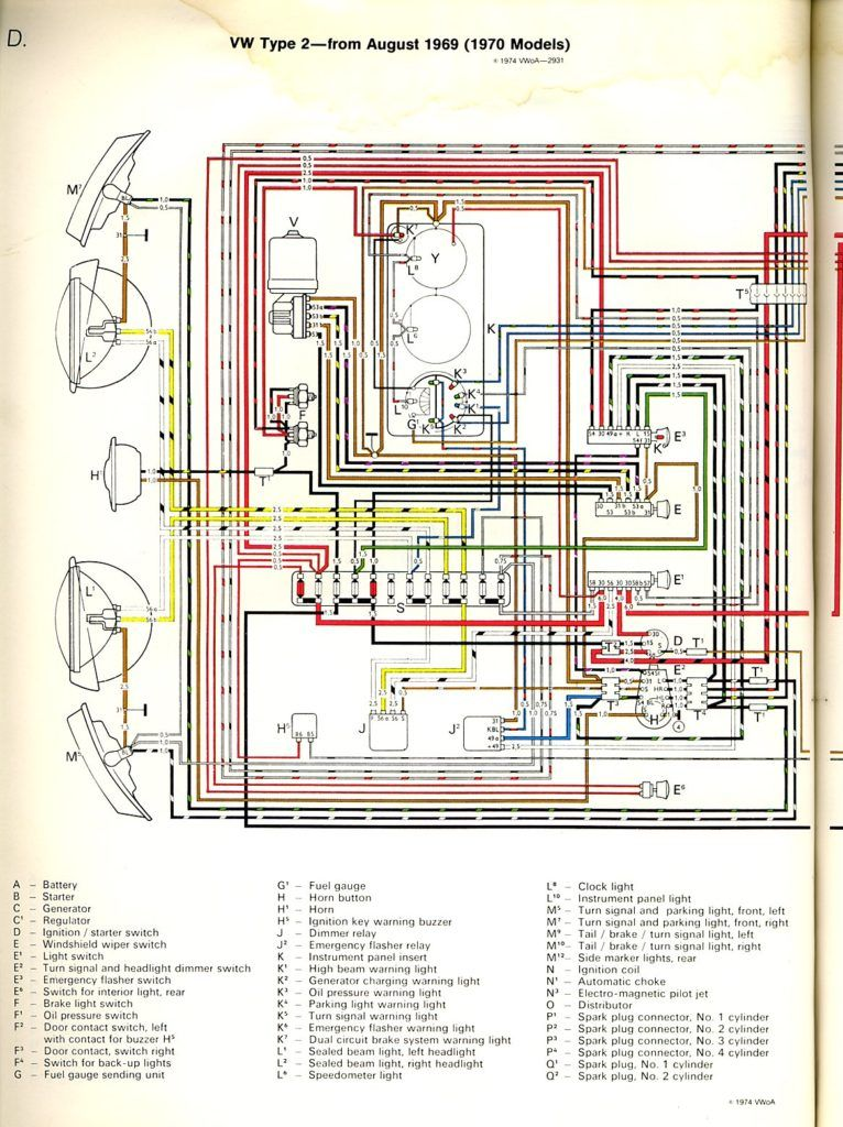 Baybus 70a With 1968 Firebird Wiring Diagram | Ve en 2019 on