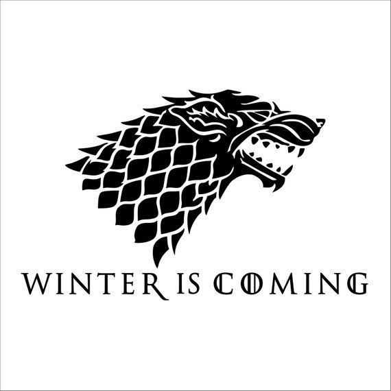 House Stark Winter Is Coming Game Of Thrones Vinyl Decal 2 Pack Winter Is Coming Dinner Is Coming Game Of Thrones Tattoo