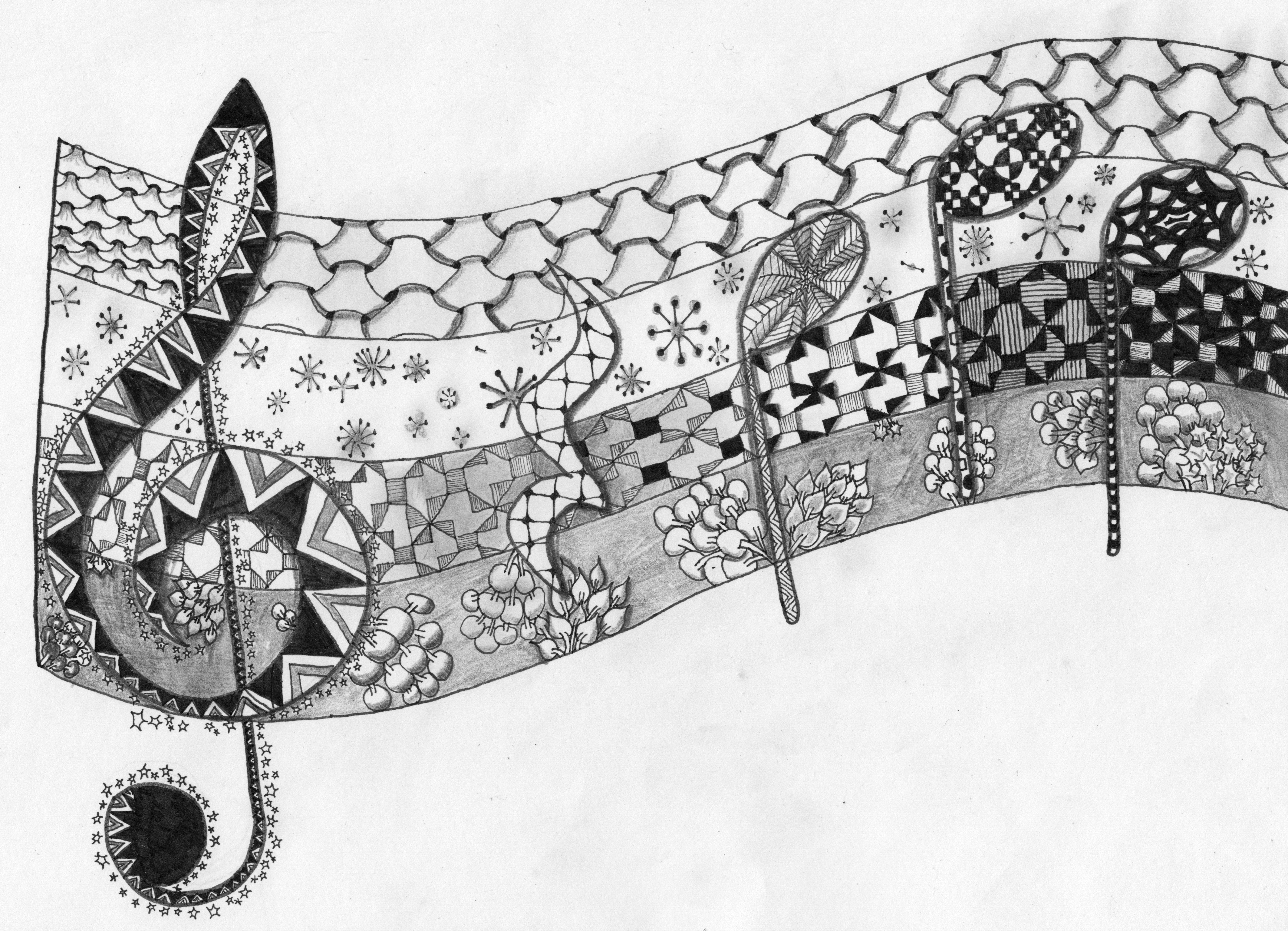 Pin von Cecelia Couture auf Zentangles | Pinterest | Flöte, Prickeln ...