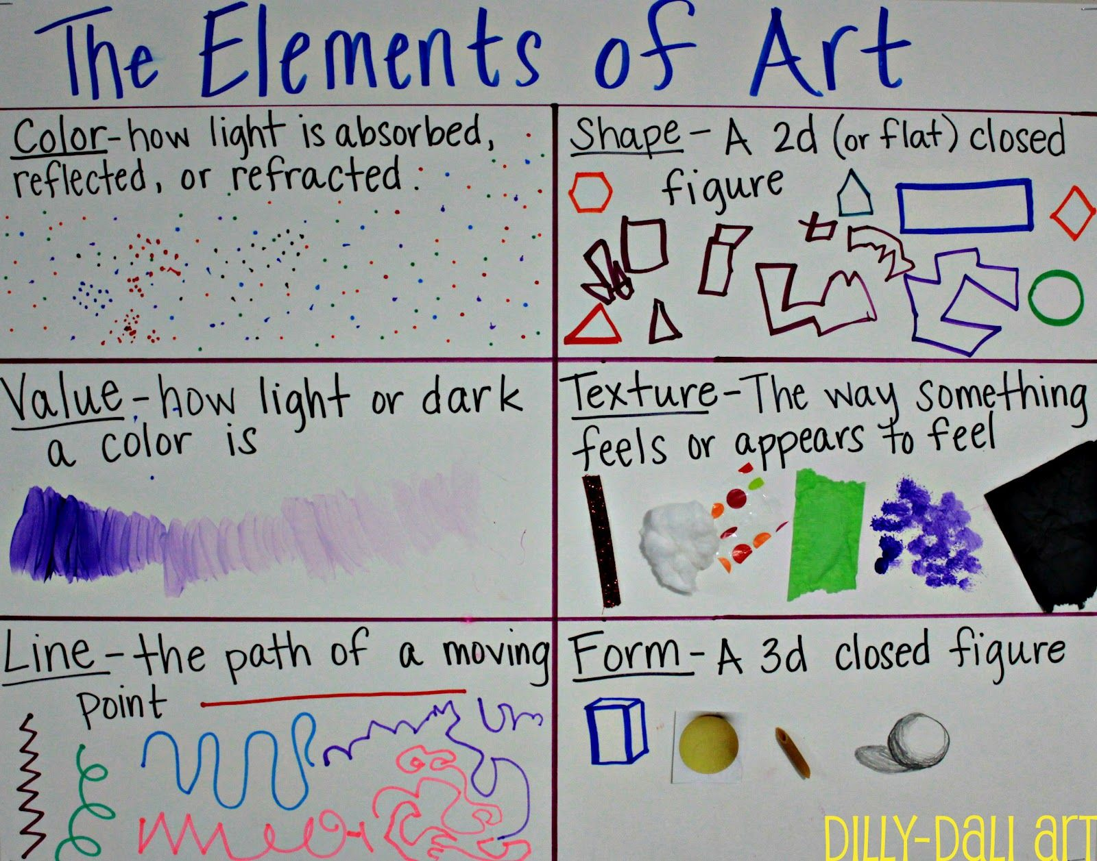 Elements Of Art Definitions And Examples : Definitions art ed th grade pinterest elements