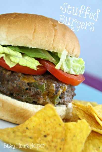 how to make stuffed burgers stay together