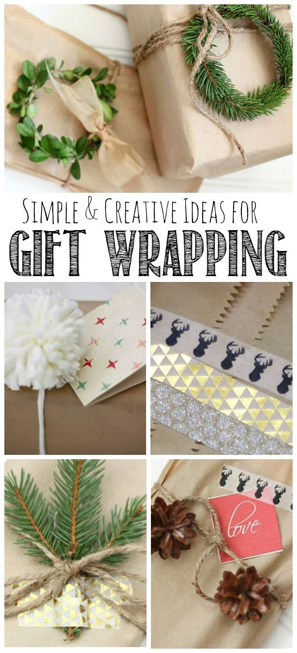 Simple Gift Wrapping Ideas | Holidays | Pinterest | Gifts, Christmas ...