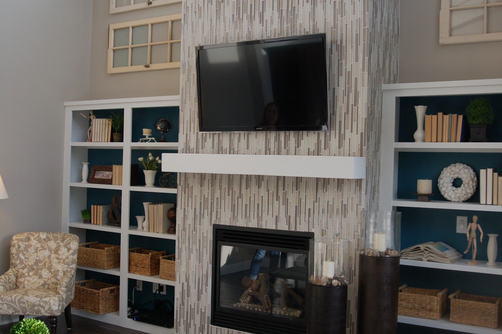 glass tile fireplace designs. Glass Tile Fireplace Surrounds  Surround Including