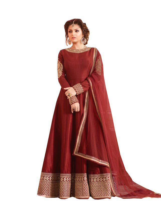Embroidered designer anarkali suit for women, to get more ...