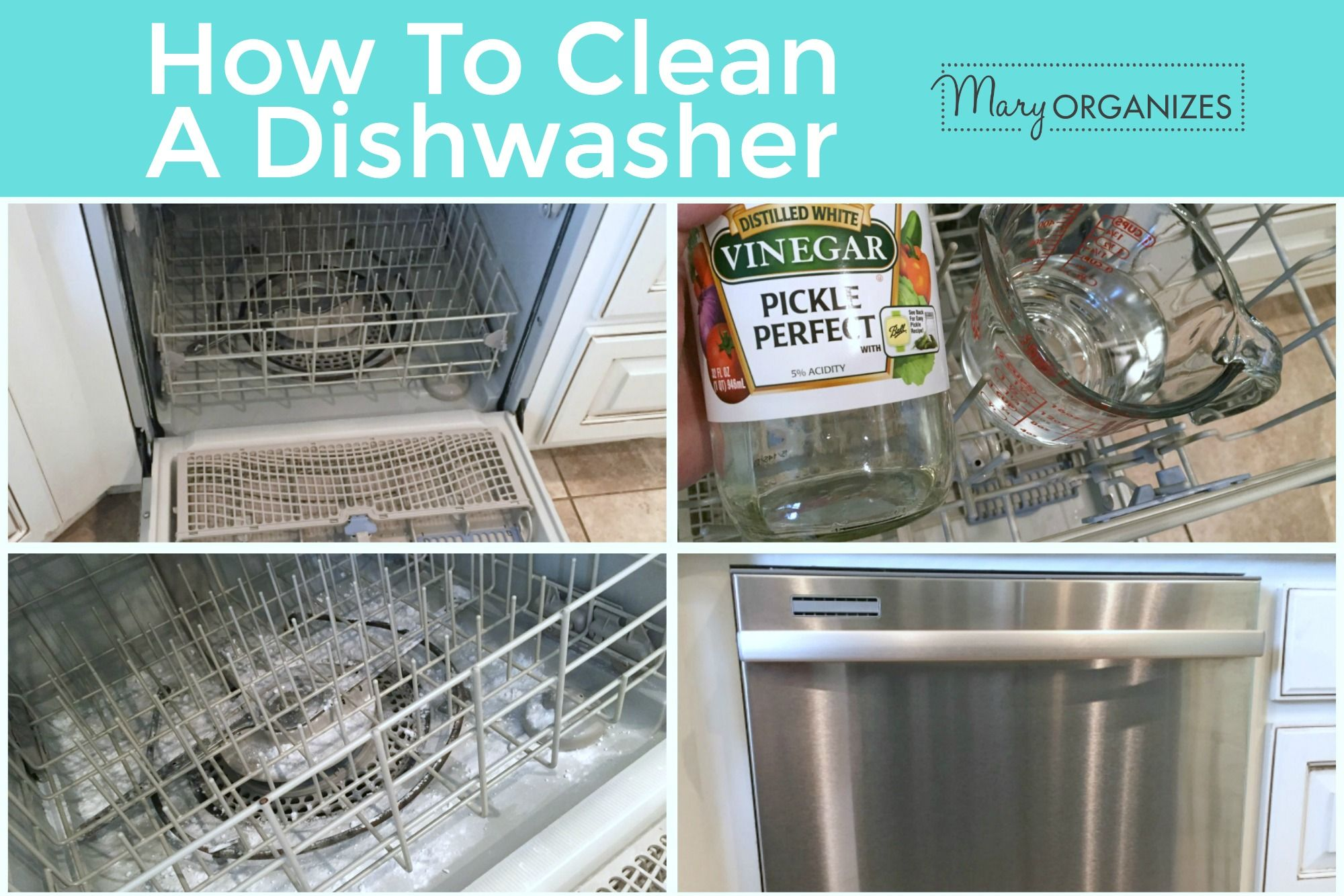How To Clean Your Dishwasher Creatingmaryshome Com Cleaning Your Dishwasher Clean Dishwasher House Cleaning Tips
