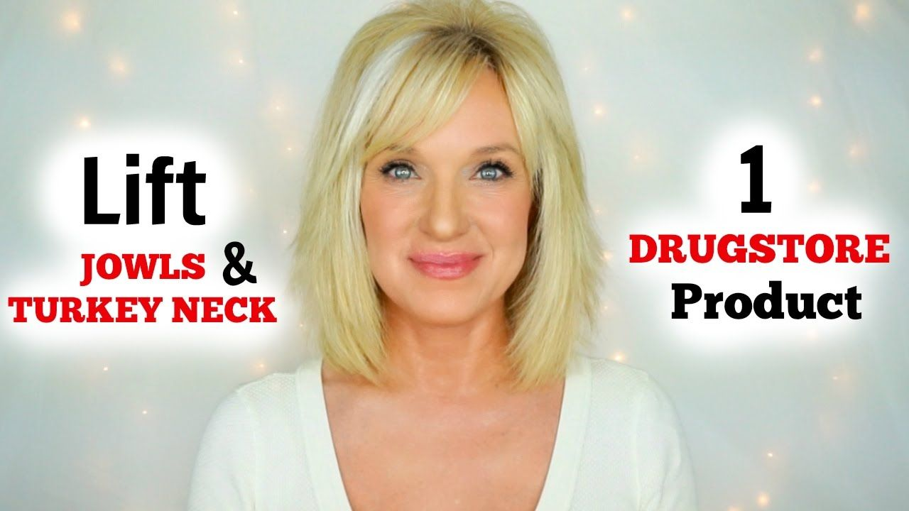 lift jowls & turkey neck! 1 drugstore product!   facial in