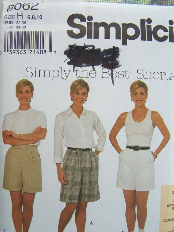 Simplicity 8062 Shorts Sewing Pattern  Misses by WitsEndDesign