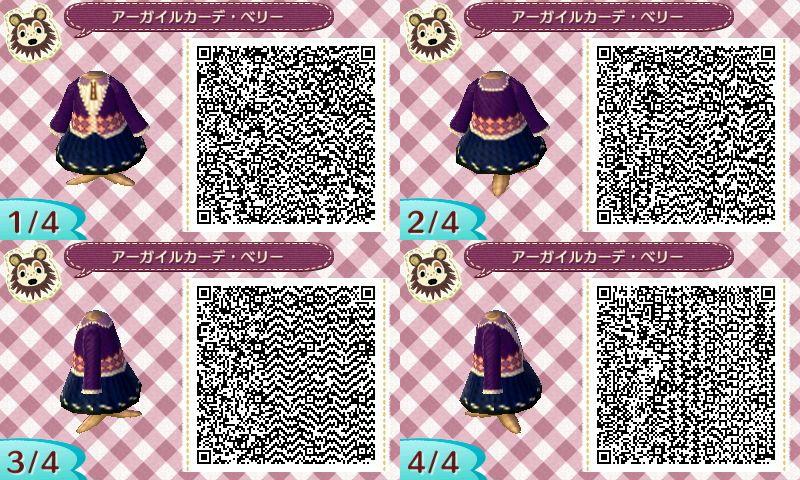Robe hiver qr code acnl
