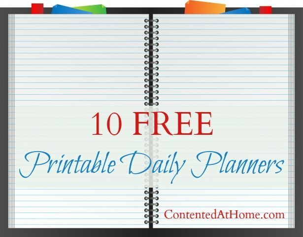 10 Free Printable Daily Planners Free printable, Planners and Free - free daily calendar template with times