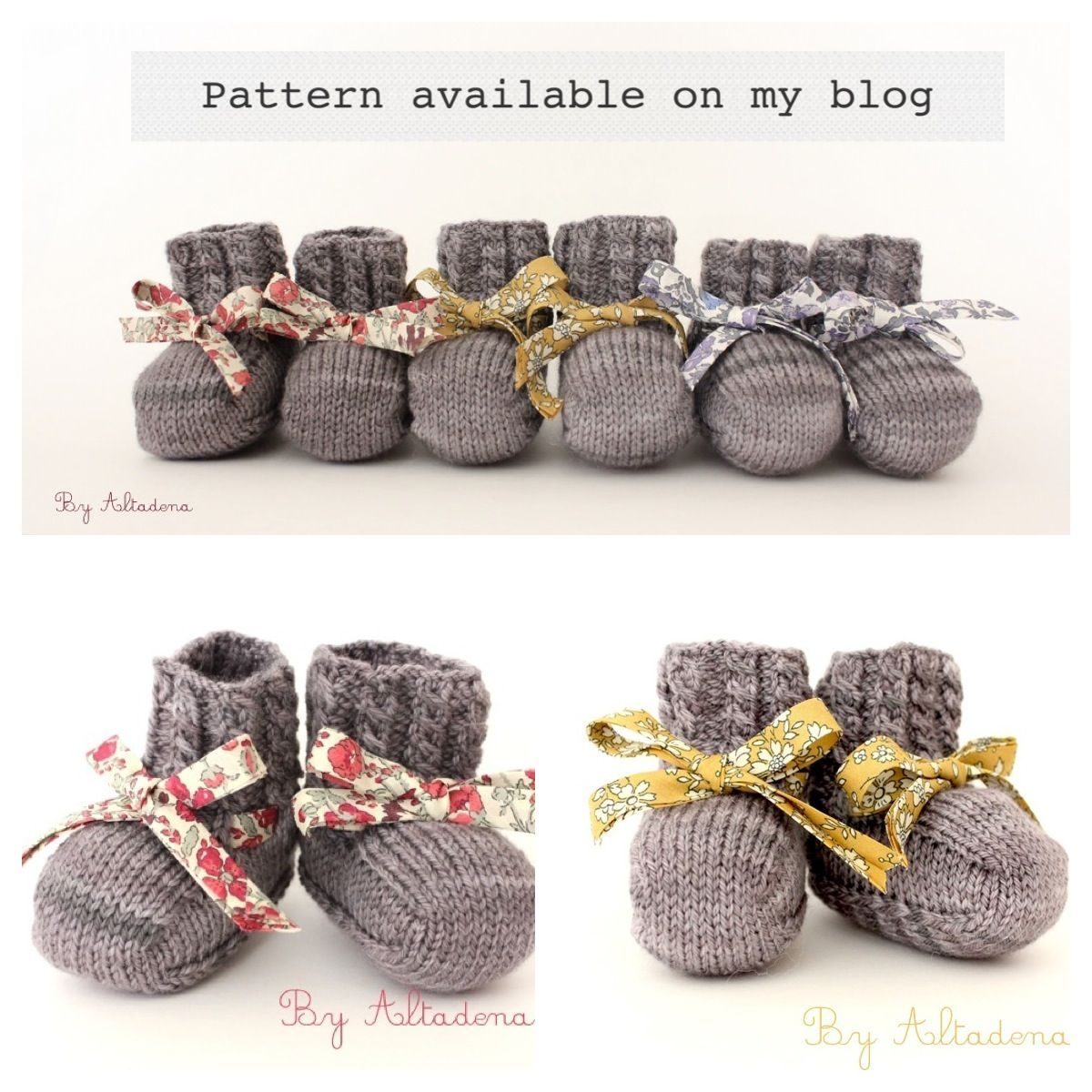 Baby Tiger Booties, Pattern On My Blog