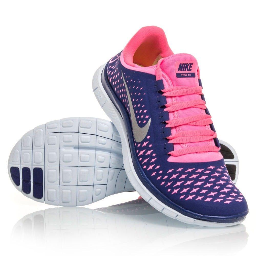 Nike Free 3.0 V4 Damen Blau Rose