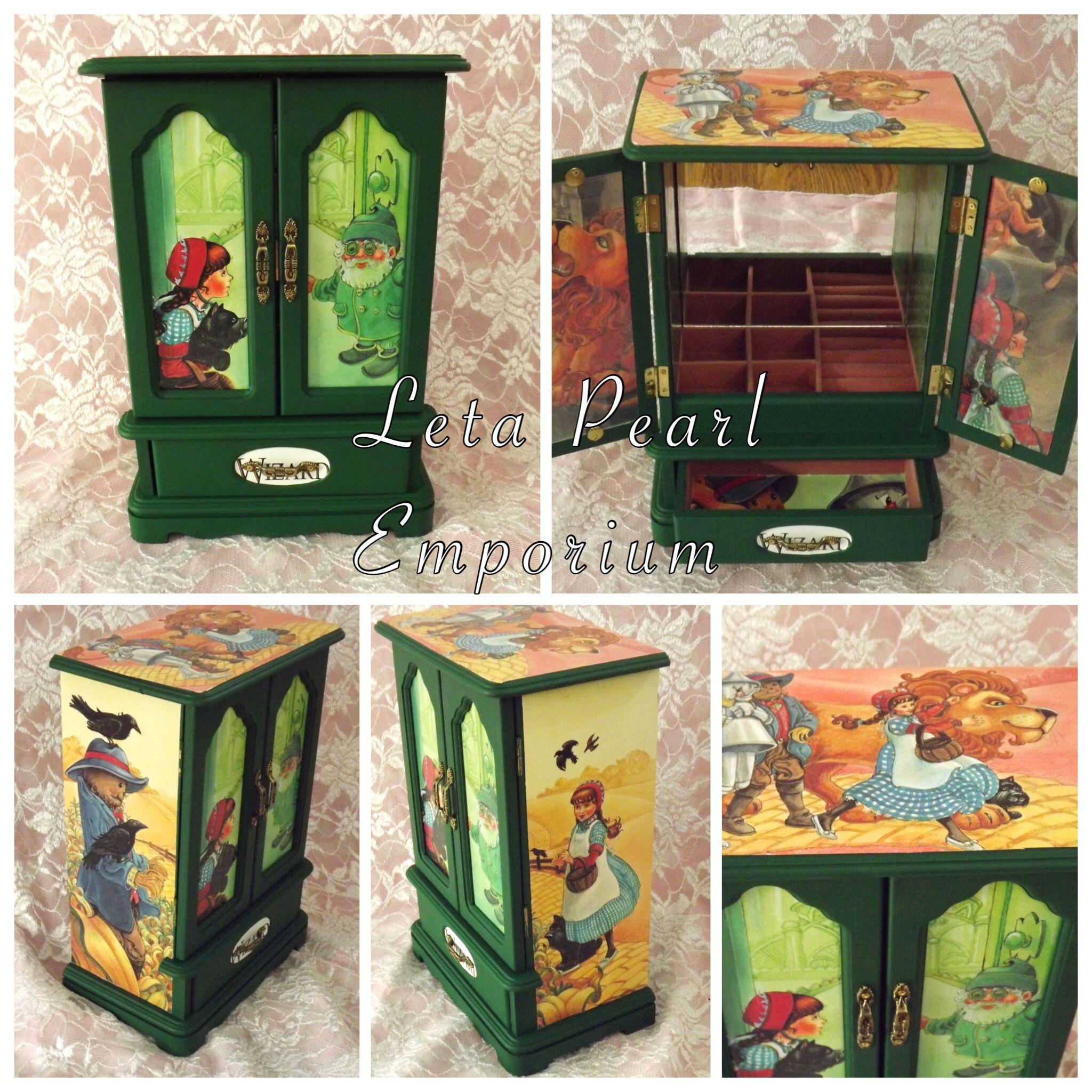 Wizard Of Oz jewelry box Letapearlemporium Etsy shop Leta Pearl