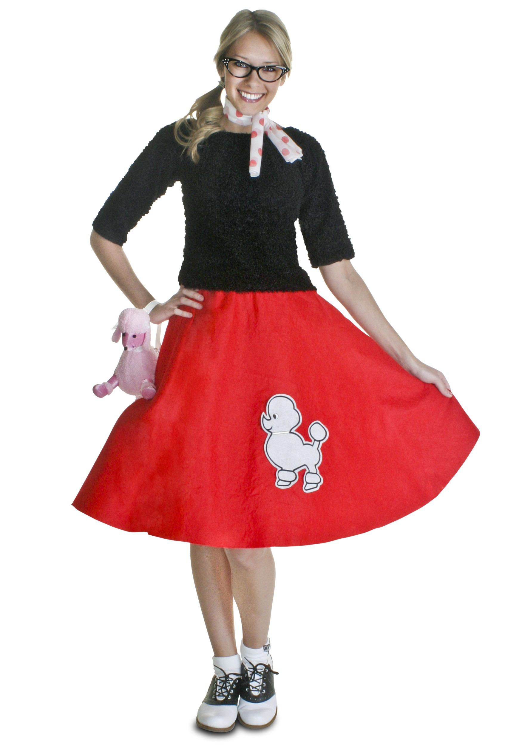 2019 year looks- 50s poodle hairstyles skirt photo