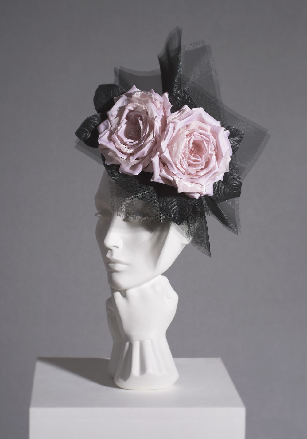 SS16/03 ROSE POSY Veiled hats, Wedding hats, Fancy hats