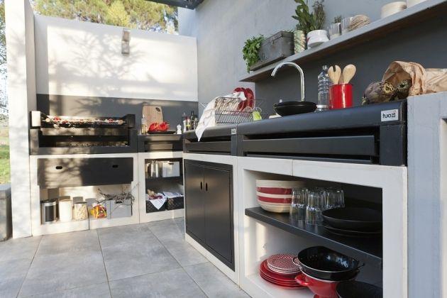Virage design pour cette cuisine exterieur exterieur Pinterest - Cuisine Exterieur Leroy Merlin