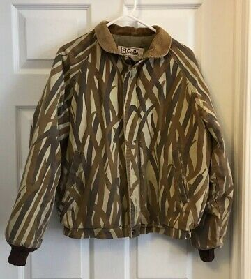 vintage walls camo full zip coat jacket m medium usa on walls hunting clothing insulated id=16616