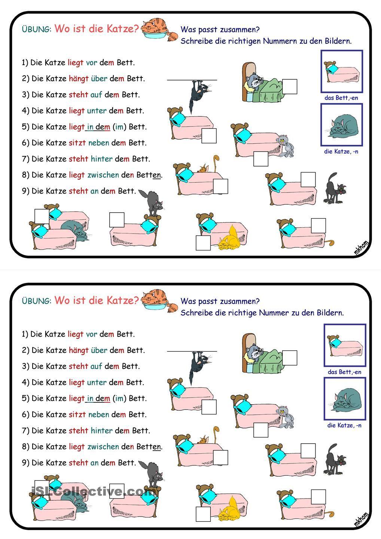 Wechselpräpositionen _ Übung _ Wo ist die Katze? | Kindergarten ...