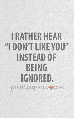 when boyfriend ignores you - Google Search | Quotes, Ignore