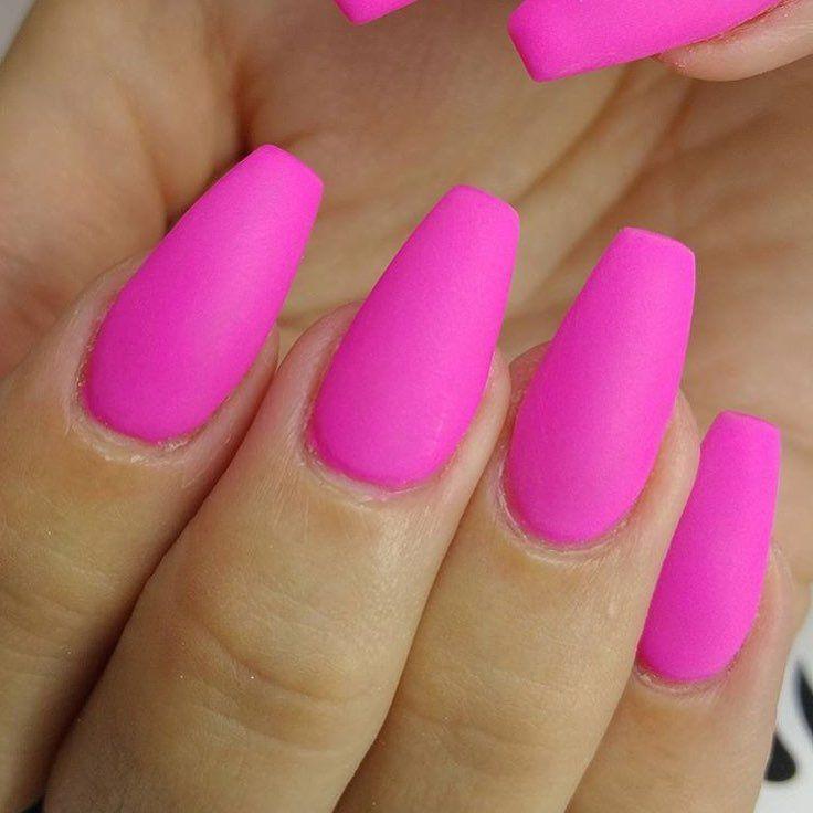 Matte pink nails | nails | Pinterest | Diseños de uñas, Uñas ...