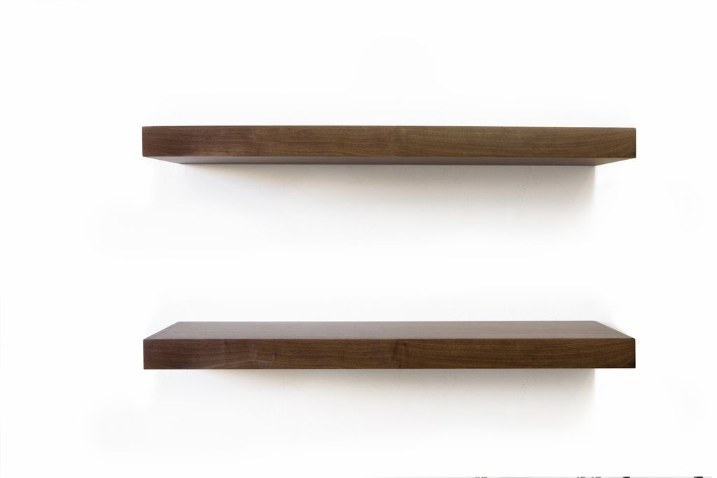 Walnut Floating Shelf 3 Of These At 12 Inches Deep And 60 Inches Long Is 1620 They Each Hold Between Walnut Floating Shelves Floating Shelves Walnut Shelves