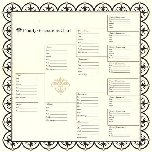 Bazzill Heritage 1 - Family Generations Chart Pinterest Chart