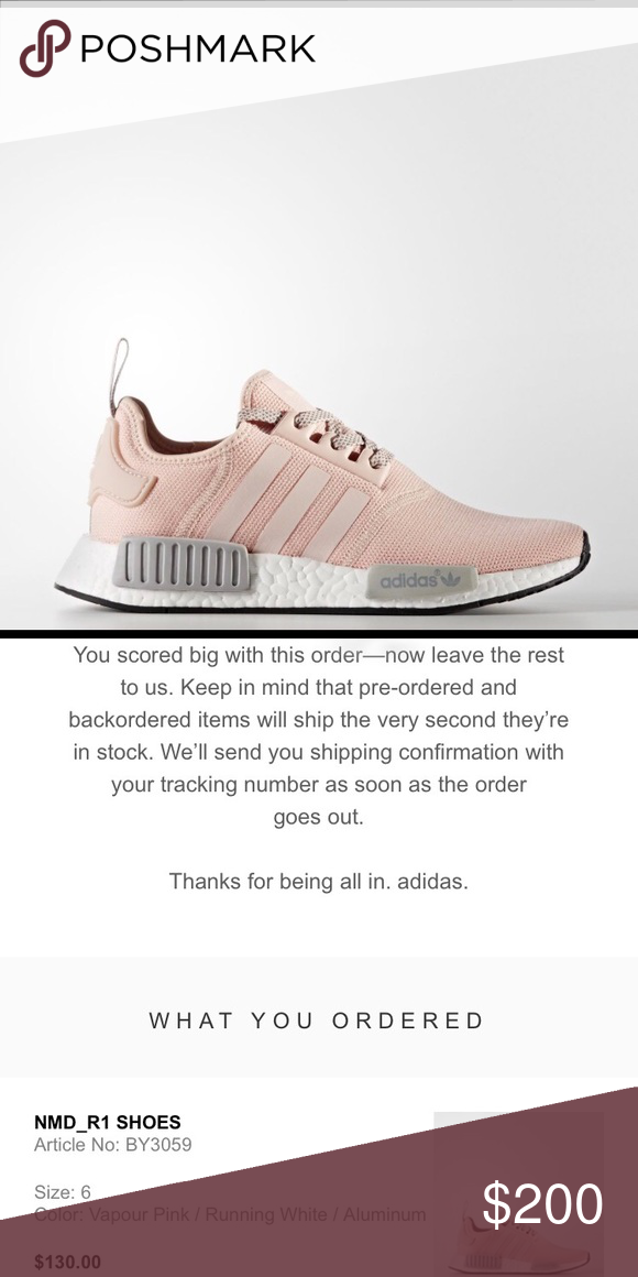748d658ca15b2 Adidas NMD R1 Vapour Pink Shoes Size 6. LOOKING TO TRADE ONLY. These shoes