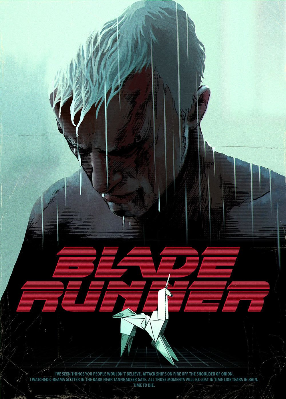 ArtStation - BLADE RUNNER Poster (funart Tracie Ching ...