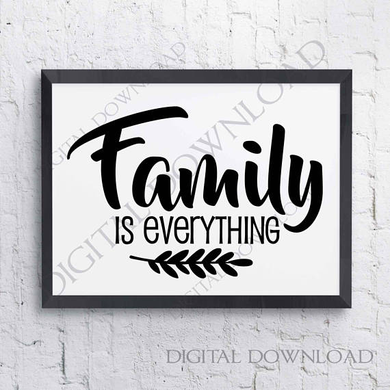 Family Is Everything Svg Design Vector Quotes Vinyl