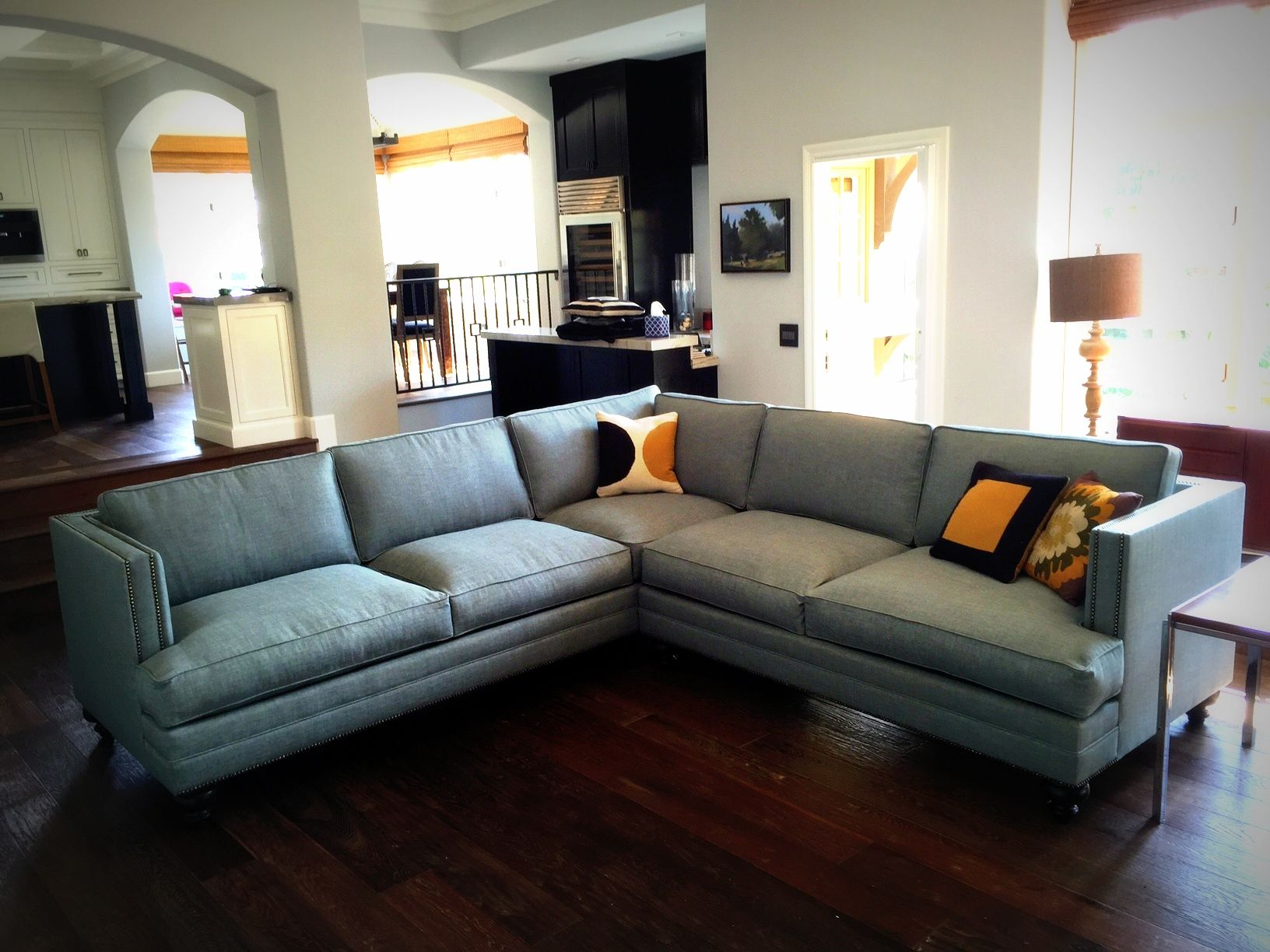 CALLISTO STYLE! Custom sofa or sectional. Leather or fabric ...