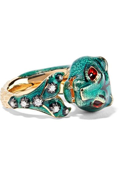 Gucci 18-karat Gold Diamond Ring BEz1O
