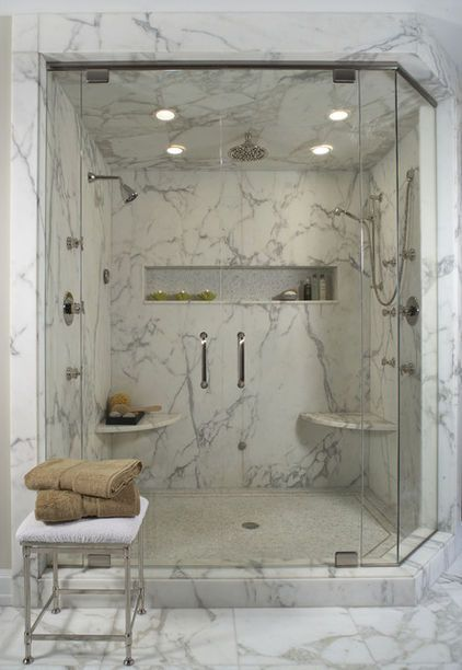 www.carolinawholesalefloors.com has more flooring and design options OR check out our Facebook - https://www.facebook.com/pages/Carolina-Wholesale-Floors/203627269686467 Great shape marble shower