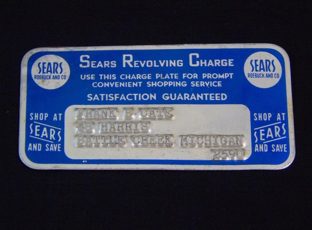777vintagestreet On Twitter Sears Roebuck Credit Card
