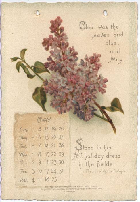The Longfellow Calendar For 1895 Vintage Calendar