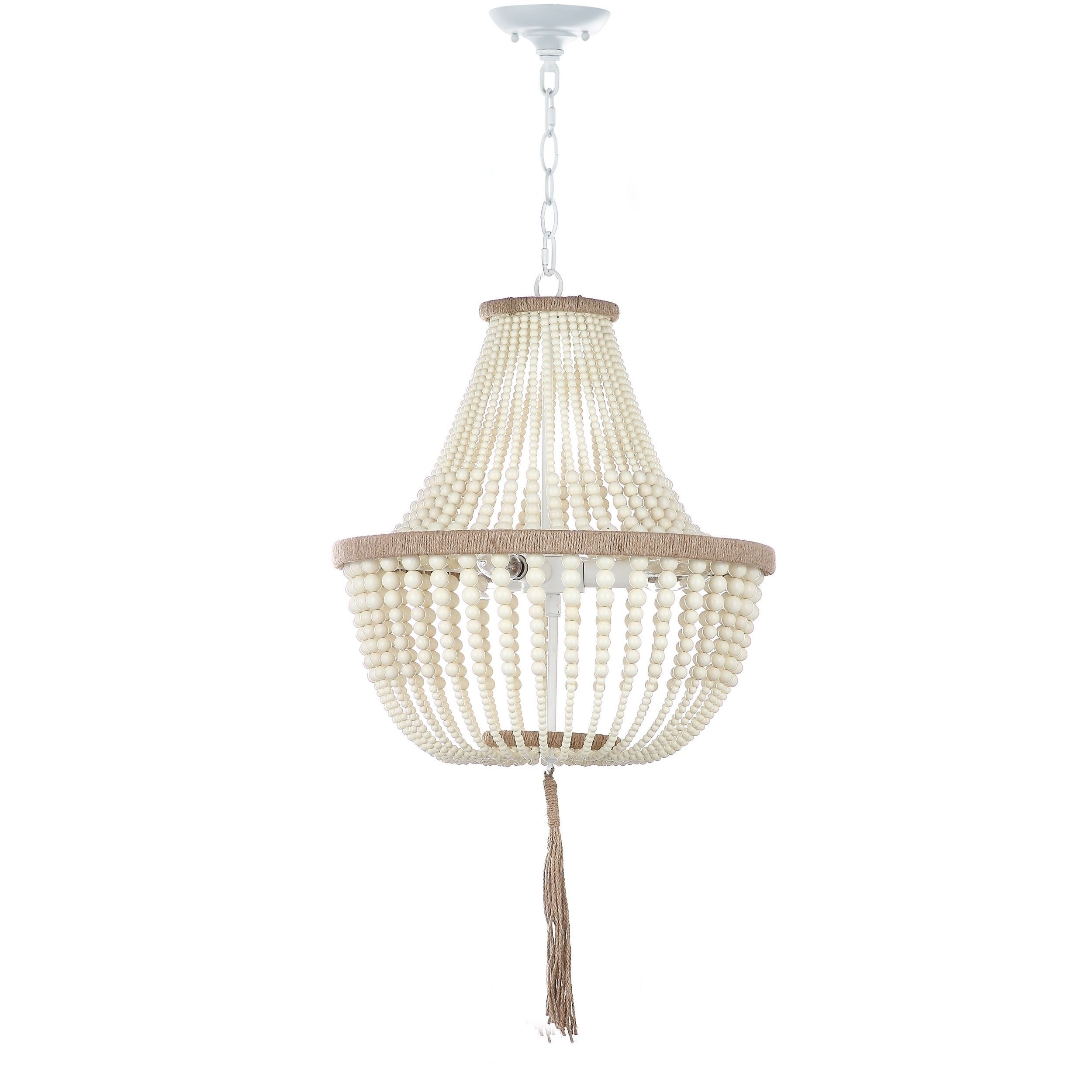 Safavieh lush kristi 3 light 165 inch dia cream beaded pendant overstock online shopping bedding furniture electronics jewelry clothing more arubaitofo Gallery