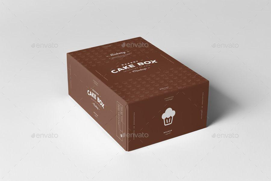 Download Cake Box Mock Up Mockup Design Box Mockup Packaging Mockup