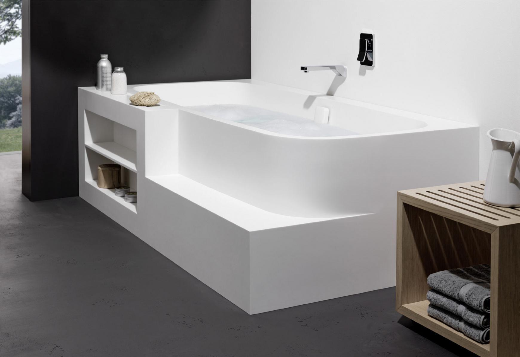 Stilvolle Badewannen aus Corian, individuell, langlebig, Whirlsystem, erweiterbar | talsee