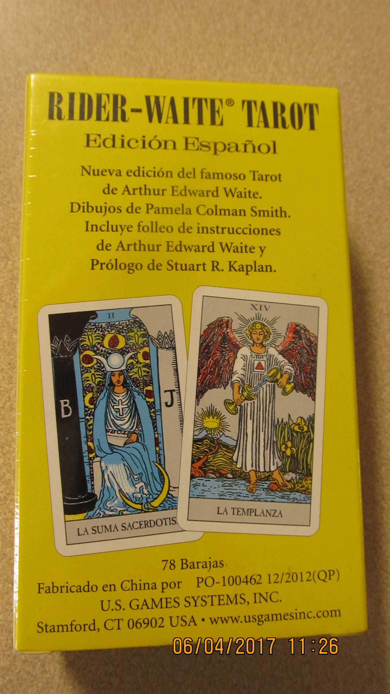 Edicion espanol rider waite tarot deck in spanish by