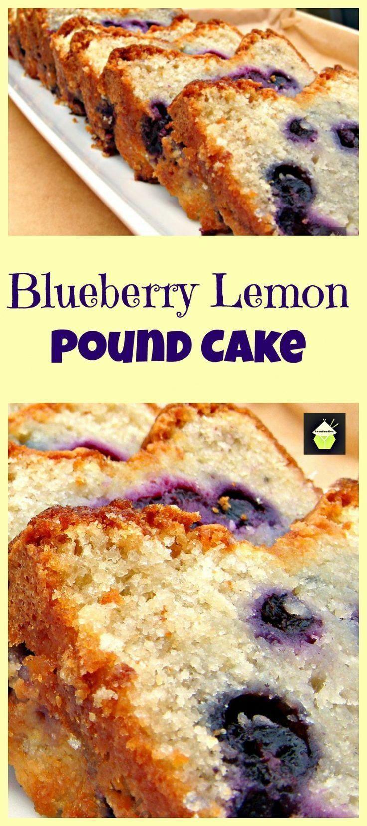 Blueberry lemon pound cakereally delicious poundcake