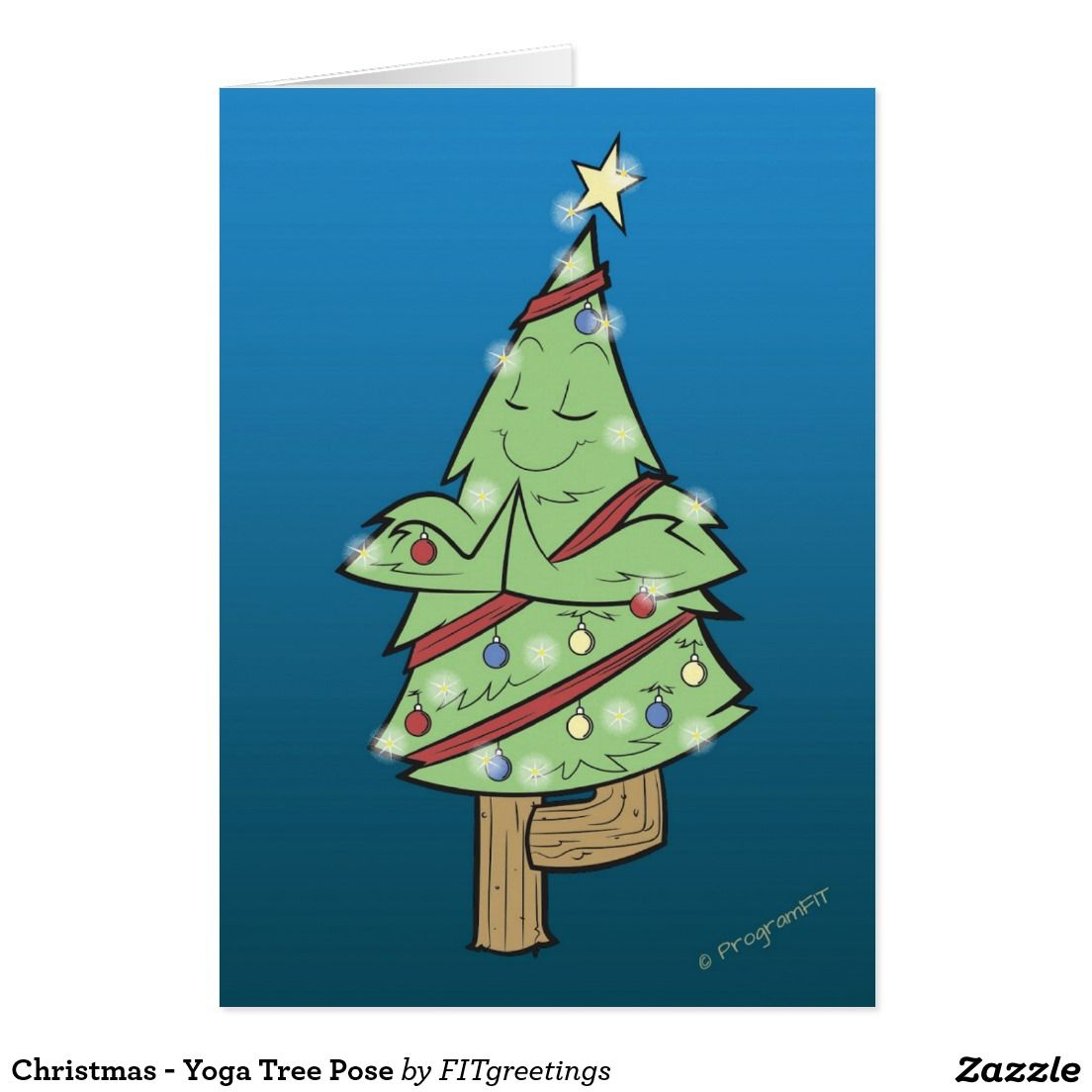 Christmas Yoga Tree Pose Holiday Card Zazzle Com Yoga Tree Pose Yoga Tree Holiday Design Card Lift up your arms and make #prayer position. christmas yoga tree pose holiday card
