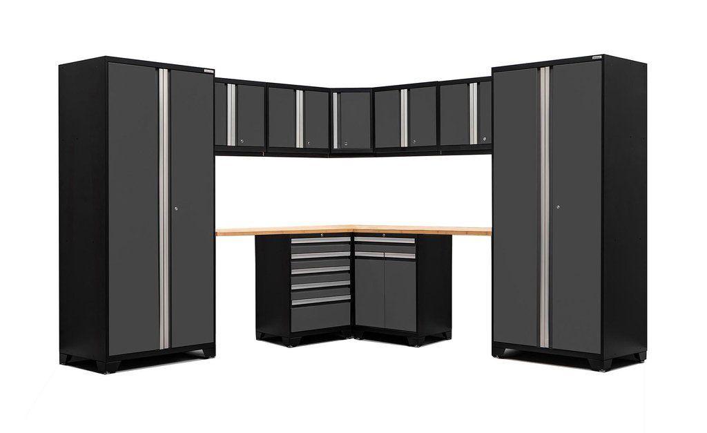 NewAge Pro 3.0 Series 12 Piece Corner Garage Cabinet Set