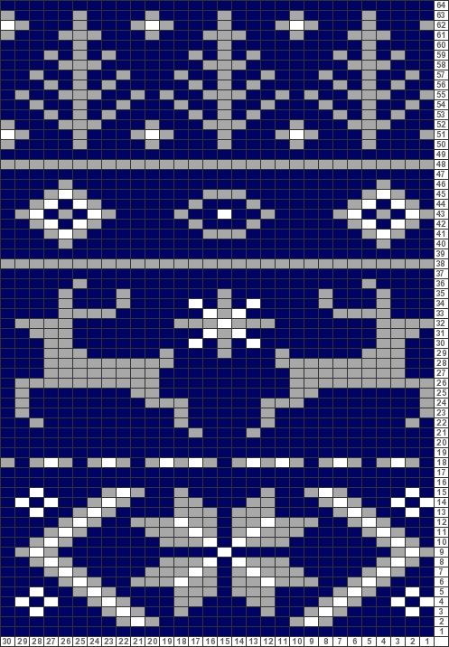 Tricksy Knitter Charts: Fair Isle Scarf Pattern for Noel by ...