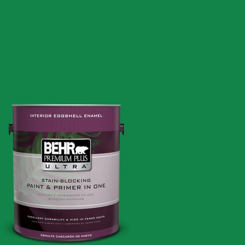 BEHR Premium Plus Ultra 1-gal. #460B-6 Chlorophyll Eggshell Enamel Interior Paint