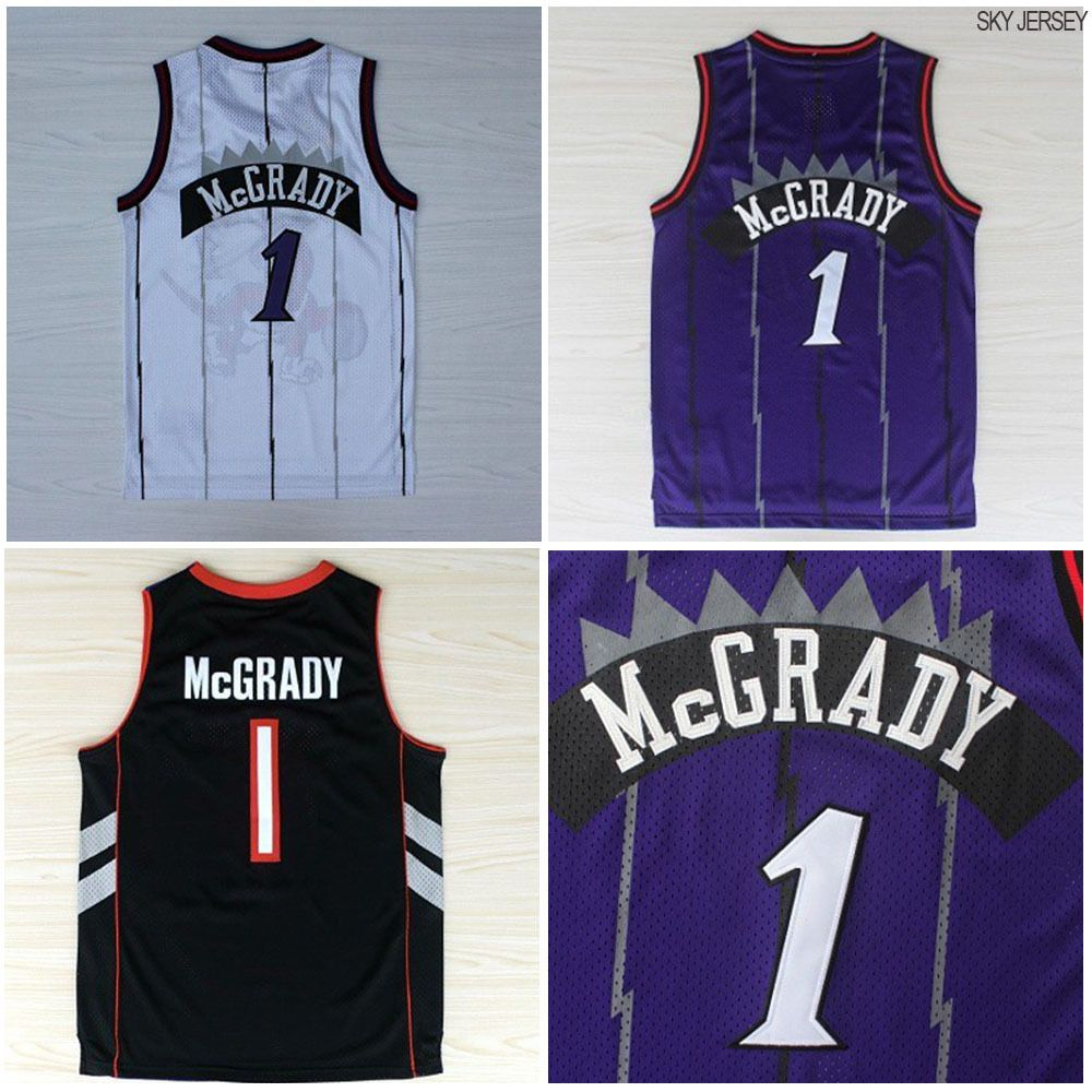 huge discount c8179 49069 Aliexpress.com : Buy Toronto #1 Tracy Mcgrady Basketball ...