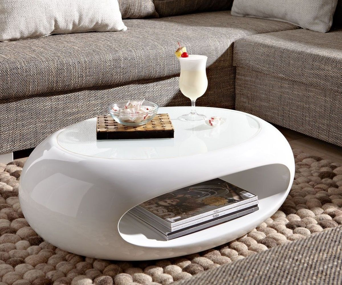 Couchtisch Elypse 80x25 Weiss mit Glasplatte Hochglanz | Cool coffee tables, Coffee table white, Coffee table
