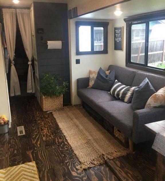 DRAMATIC RV/CAMPER MAKEOVER FOR FULL TIME TRAVELING - Interior Design Ideas & Home Decorating Inspi