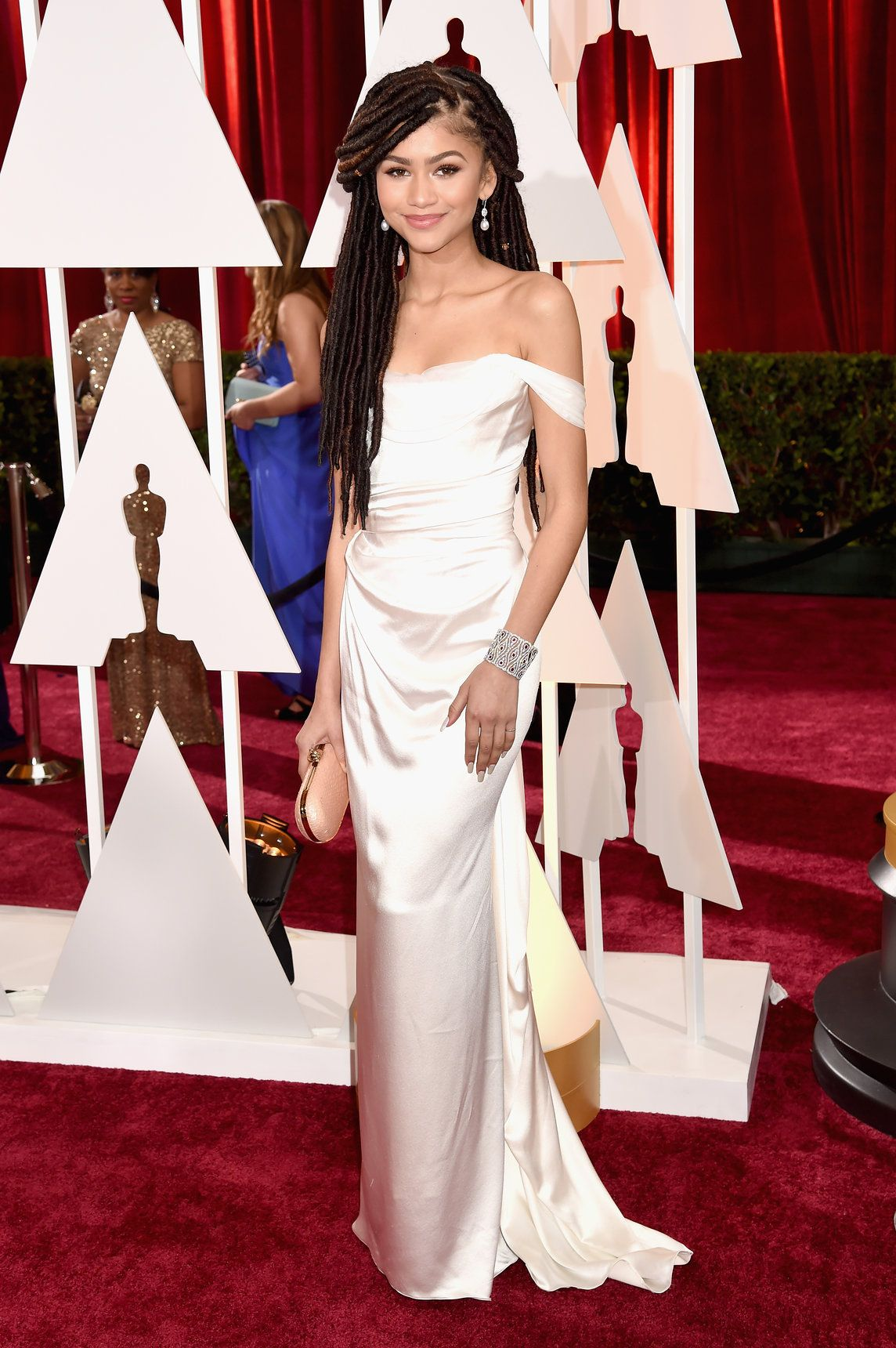 81cc45b8cd5 Oscars 2015  The Best Dressed Celebrities on the Red Carpet – Vogue Zendaya  in Vivienne Westwood and Chopard jewelry  2015Oscars  redcarpet  zendaya