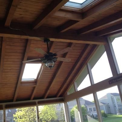 Lining a ceiling with exposed beamswhite skylight google for Open beam ceiling ideas