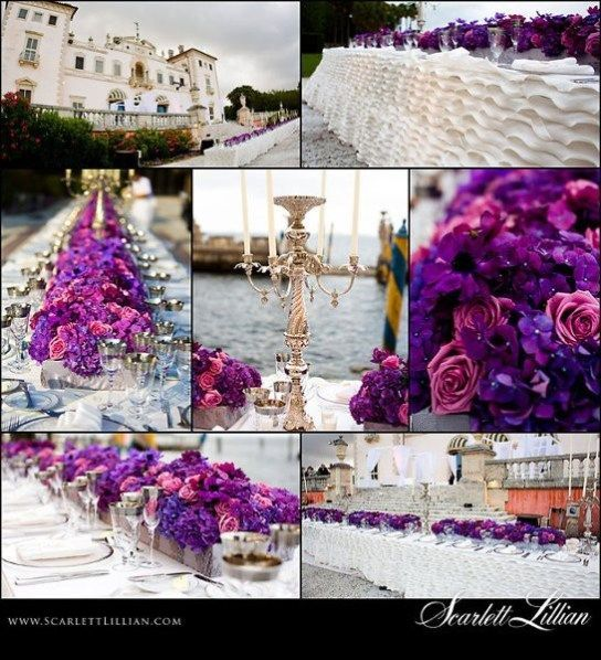 Royal Purple And Gold Wedding Purple Gold Ivory Wedding Theme