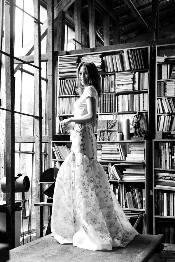 A portrait shoot in a dream Parisian artist's atelier copyright Carla Coulson